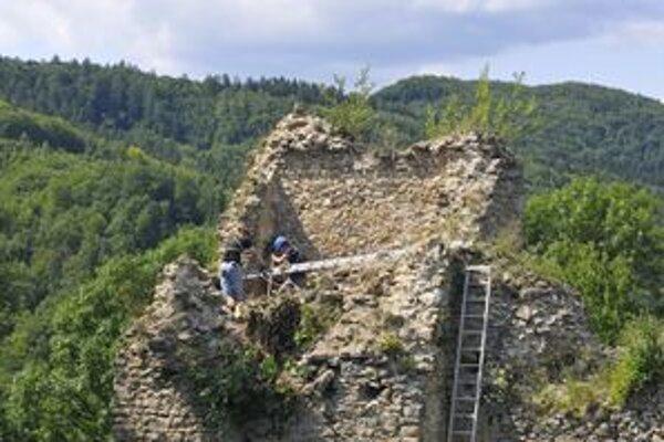 Na záchrane hradu pracujú dobrovoľníci.