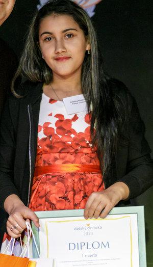 Kristína získala ocenenie za pomoc svojmu ťažko chorému dedkovi.