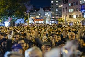 Protesty Za slušné Slovensko.