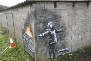Banksyho dielo sa objavilo na garáži v Port Talbot.