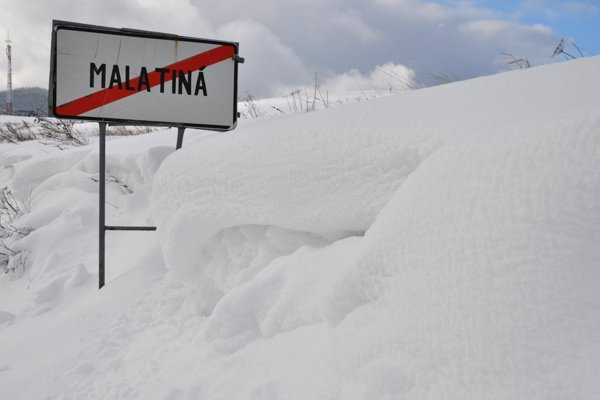 Na niektorých miestach na severe Slovenska napadlo vyše 80 cm snehu.