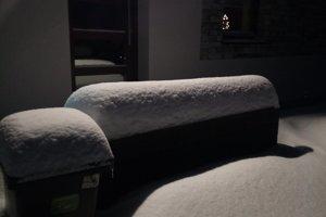 Snehová nádielka na Horelici.