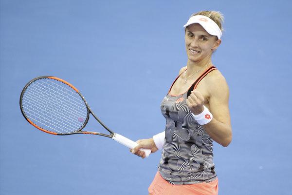 Lesia Curenková po úspešnom semifinále proti Naomi Osakovej v Brisbane.