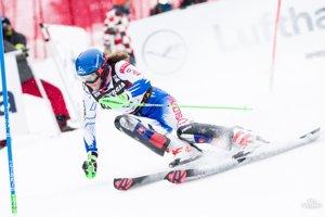 Petra Vlhová v prvom kole slalomu v Záhrebe.