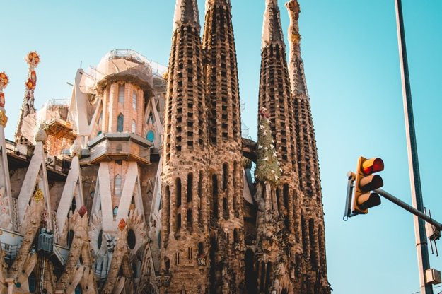 Detail na Sagrada Família, Barcelona