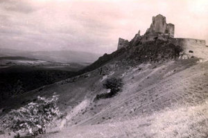 Čachtický hrad v roku 1925