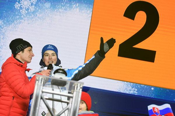 Na snímke slovenská lyžiarka Petra Vlhová počas žrebovania pred utorňajším nočným slalomom Svetového pohára v alpskom lyžovaní žien v rakúskom Flachau 7. januára 2019.