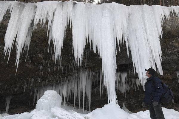 Ľadopád Šikľavá skala medzi Matejovcami nad Hornádom a Chrasťou nad Hornádom.