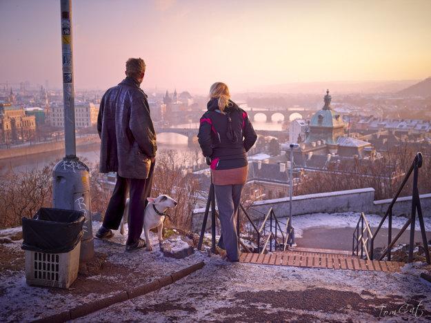 Praha v zime