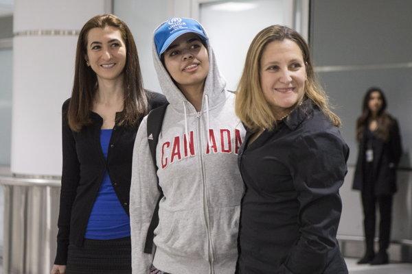 Kanada udelila Saudskoarabke azyl v piatok.