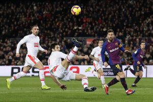Lionel Messi v zápase proti Eibaru.