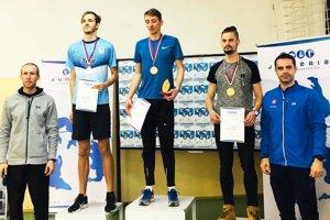Traja najlepší muži na pretekoch Jumperia v Nitre.