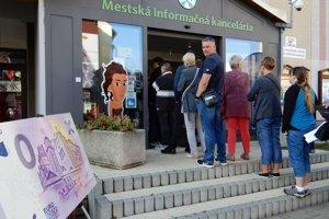 MIK v Poprade zaznamenala záujem aj o bankovku v hodnote 0 eur.