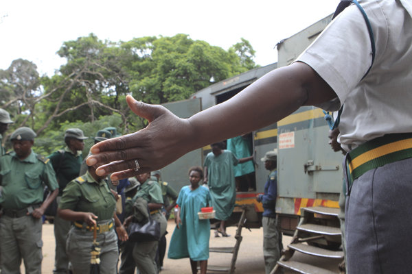 Protest v Zimbabwe.