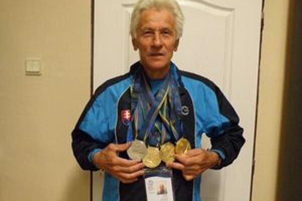 Vincent Bašista so štyrmi medailami.