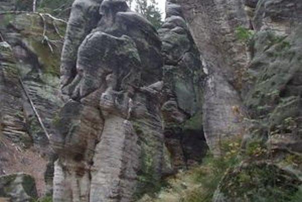 Slonia skalná rodinka zo severomoravského skalného mestečka v Prachovských skalách.
