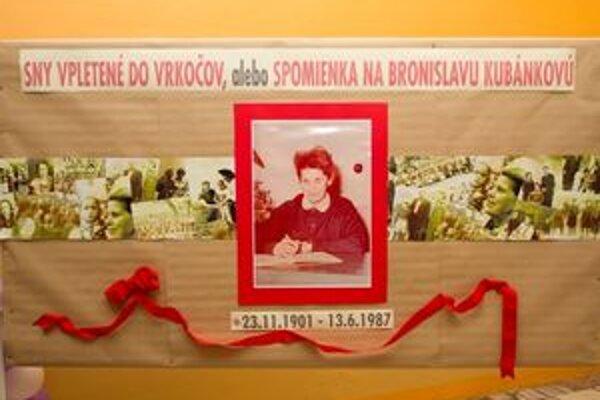 V rámci batôžkového posedenia spomínali aj na učiteľku Bronislavu Kubánkovú.