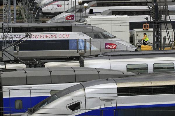 Francúzske rýchlovlaky spoločnosti TGV.