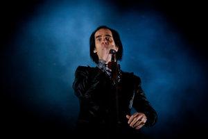 Austrálsky spevák Nick Cave na vystúpení na Pohode.