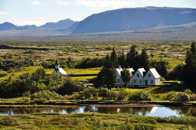 Thingvellir - miesto, kde sa stretáva tektonická platňa Ameriky a Európy