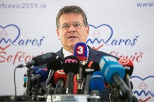 Maroš Šefčovič ohlásil kandidatúru na prezidenta.