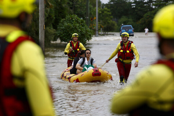 Povodne v Austrálii.