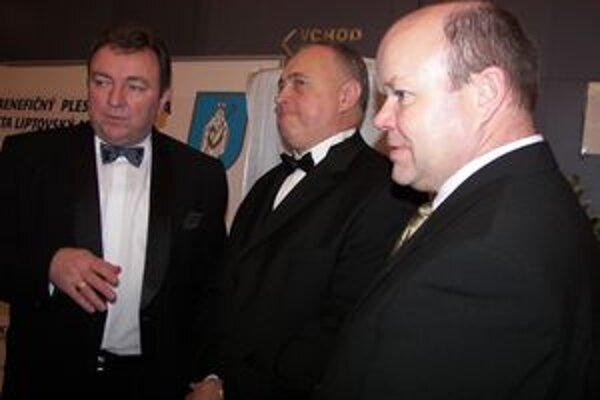 Zľava Ján Blcháč, Michal Slašťan a Branislav Tréger.
