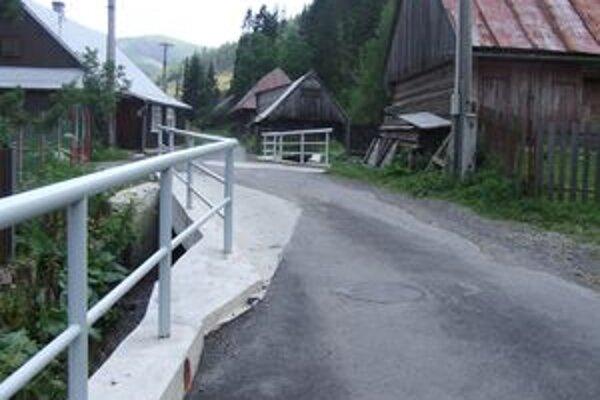 Jeden z opravených mostov vo Vyšnej Boci.