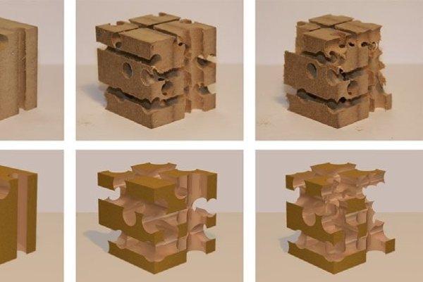 Kocka, do ktorej vedci vŕtali diery.