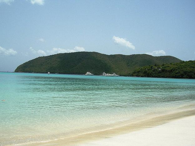 Pláž Maho, Cruz Bay, St. John, Panenské ostrovy