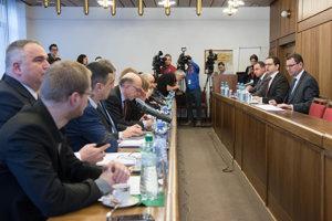 Zasadnutie ústavnoprávneho výboru.