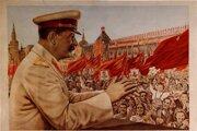 Milovaný Stalin - národné šťastie! Plagát