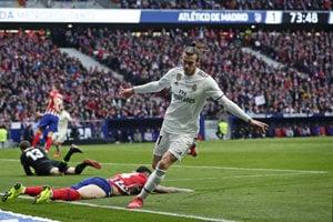 Gareth Bale v zápase proti Atléticu Madrid.