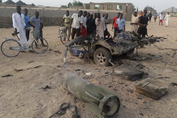 Miesto útoku teroristickej skupiny Boko Haram pri meste Maiduguri v Nigérii.