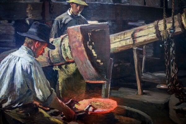 Robotníkov z medeného hámra vedel Skutecký maľovať celé hodiny.