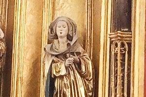 Svätá Alžbeta, patrónka chrámu i Košíc.