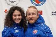 Reprezentantka Sarah Hrnková a tréner Ján Novosad.