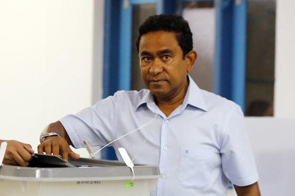 Bývalý maldivský prezident Abdalla Jámín.