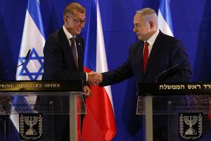 Český premiér Andrej Babiš (vľavo) sa v utorok stretol v Jeruzaleme so šéfom izraelskej vlády Benjaminom Netanjahuom.