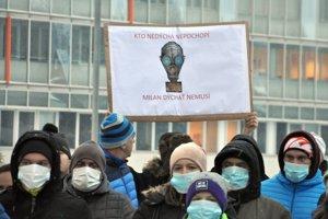 Ružombečania počas nedávneho protestu.