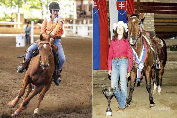 Vľavo Veronika Košťálová, vpravo Carla Scholtzová. Obe patria medzi najúspešnejšie westernové jazdkyne.