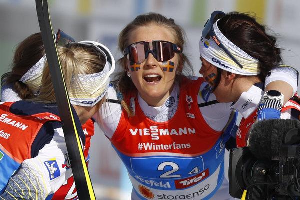 Švédska ženská štafeta získala zlato na MS v lyžovaní 2019.