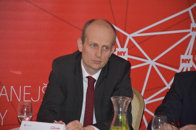 Diskusné stretnutie so županom KSK Rastislavom Trnkom. Na fotografii Peter Blaas, Business Development Director, Antik Telecom.