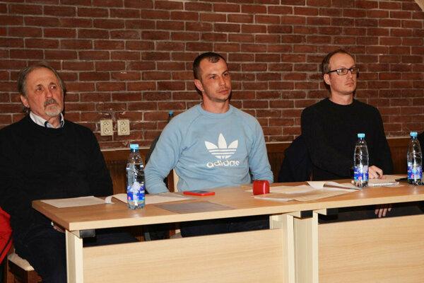 Zľava: Michal Krajčík st., Juraj Krajčík a Michal Krajčík ml.