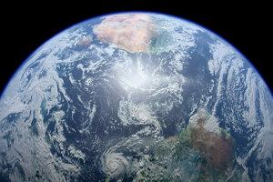 Satelitný záber Zeme.