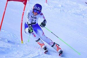 Celková víťazka Petra Vlhová počas 1. kola.