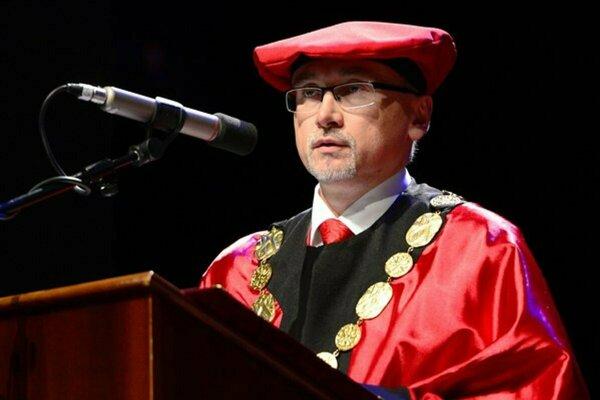 René Matlovič ešte ako rektor PU.