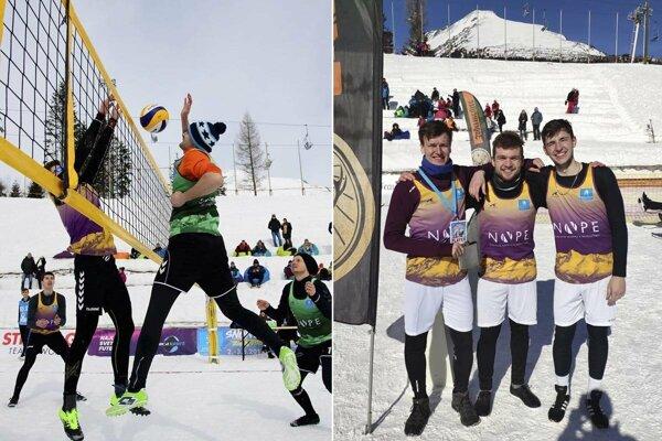 Na Štrbskom Plese sa cez víkend súperilo o tituly v snow volleyballe.