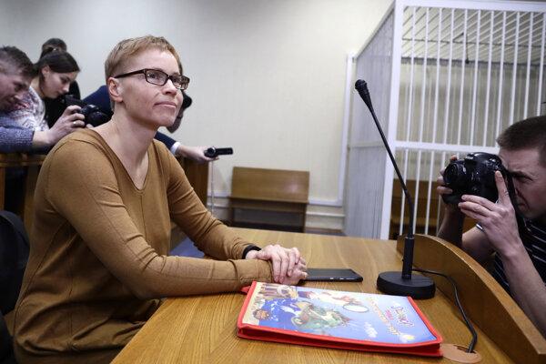 Marina Zolotava na súde.