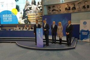 Delegácia Košíc na čele s primátorom Rašim v októbri 2016 na valnom zhromaždení Európskych olympijských výborov v bieloruskom Minsku, kde získali právo organizovať EYOF 2021.